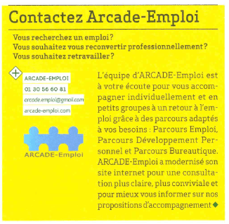 Noisy Le Mag – Contactez Arcade-Emploi